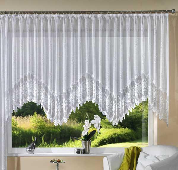 jacquard bogen store fertig gardine 13114 ebay. Black Bedroom Furniture Sets. Home Design Ideas