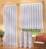 jacquard bogen store fertig gardine 13116 ebay. Black Bedroom Furniture Sets. Home Design Ideas