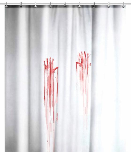 duschvorhang eva badezimmer dusche vorhang ringe 180x180 psycho ebay. Black Bedroom Furniture Sets. Home Design Ideas