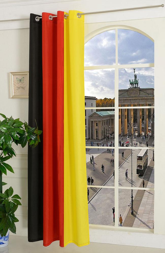gardine vorhang schal mit sen deutschland flagge 1 st ck 245x140 hxb hxb ebay. Black Bedroom Furniture Sets. Home Design Ideas