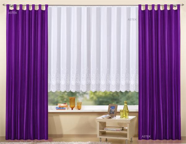 gardinen set 3 teile vorhang und store mit stickerei ebay. Black Bedroom Furniture Sets. Home Design Ideas