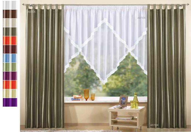 Gardinen Set, 3 Teile, Vorhang Und Kuvertstore, 145x300