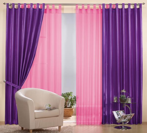 set 4 teile vorhang gestreift und gardine farben 2 ebay. Black Bedroom Furniture Sets. Home Design Ideas