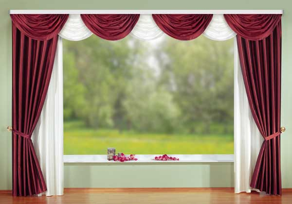 deko gardinen set muschelbogen 16 teilig 039352 ebay. Black Bedroom Furniture Sets. Home Design Ideas