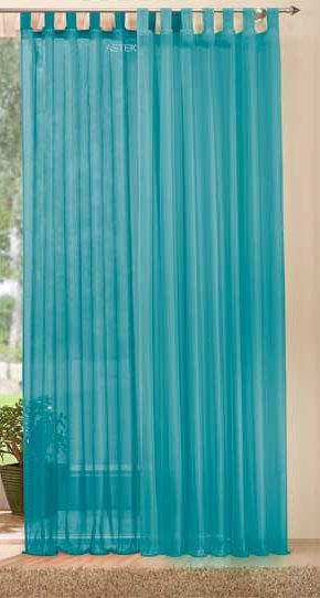 schlaufenschal uni transparent voile 061000 ebay. Black Bedroom Furniture Sets. Home Design Ideas