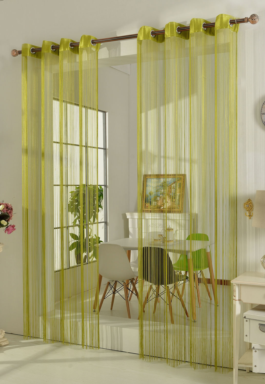 fadengardine fadenstore vorhang mit sen raumteiler 20304 ebay. Black Bedroom Furniture Sets. Home Design Ideas