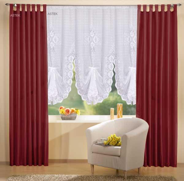 gardinen set deko schal und bogenstore 180 cm ebay. Black Bedroom Furniture Sets. Home Design Ideas