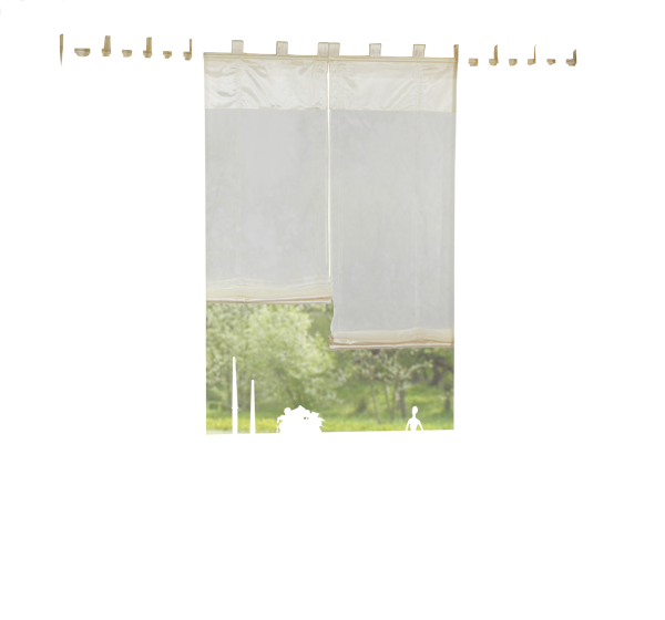 set 4 teile deko schal raffrollo farben 1 ebay. Black Bedroom Furniture Sets. Home Design Ideas