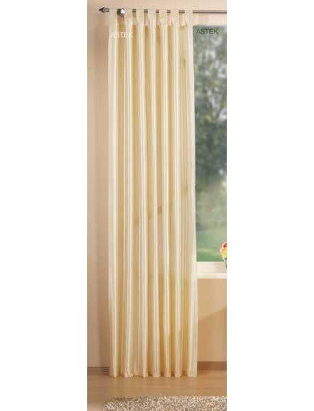 deko taft vorhang schlaufen 245x140 creme ebay. Black Bedroom Furniture Sets. Home Design Ideas