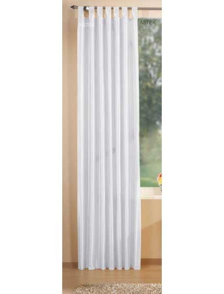 deko taft vorhang schlaufen 245x140 wei ebay. Black Bedroom Furniture Sets. Home Design Ideas