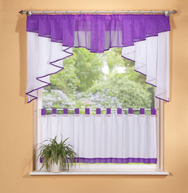 scheiben gardinen set 2 tlg lila ebay. Black Bedroom Furniture Sets. Home Design Ideas