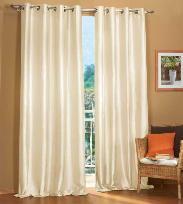 gardinen set 2 teile deko taftvorhang mit sen ebay. Black Bedroom Furniture Sets. Home Design Ideas