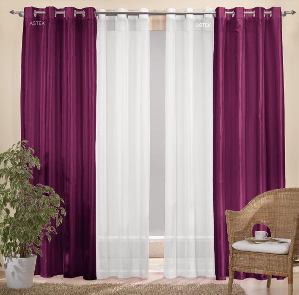 sen gardinen set 20330 brombeer 245x140 20332 wei. Black Bedroom Furniture Sets. Home Design Ideas