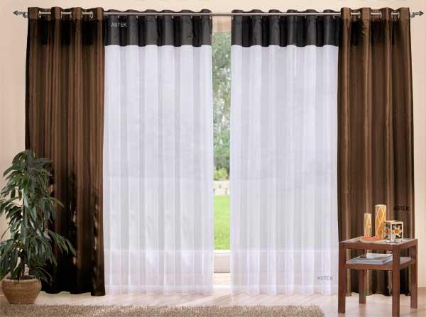 set 4 teile deko schal gardine taftbord re ebay. Black Bedroom Furniture Sets. Home Design Ideas