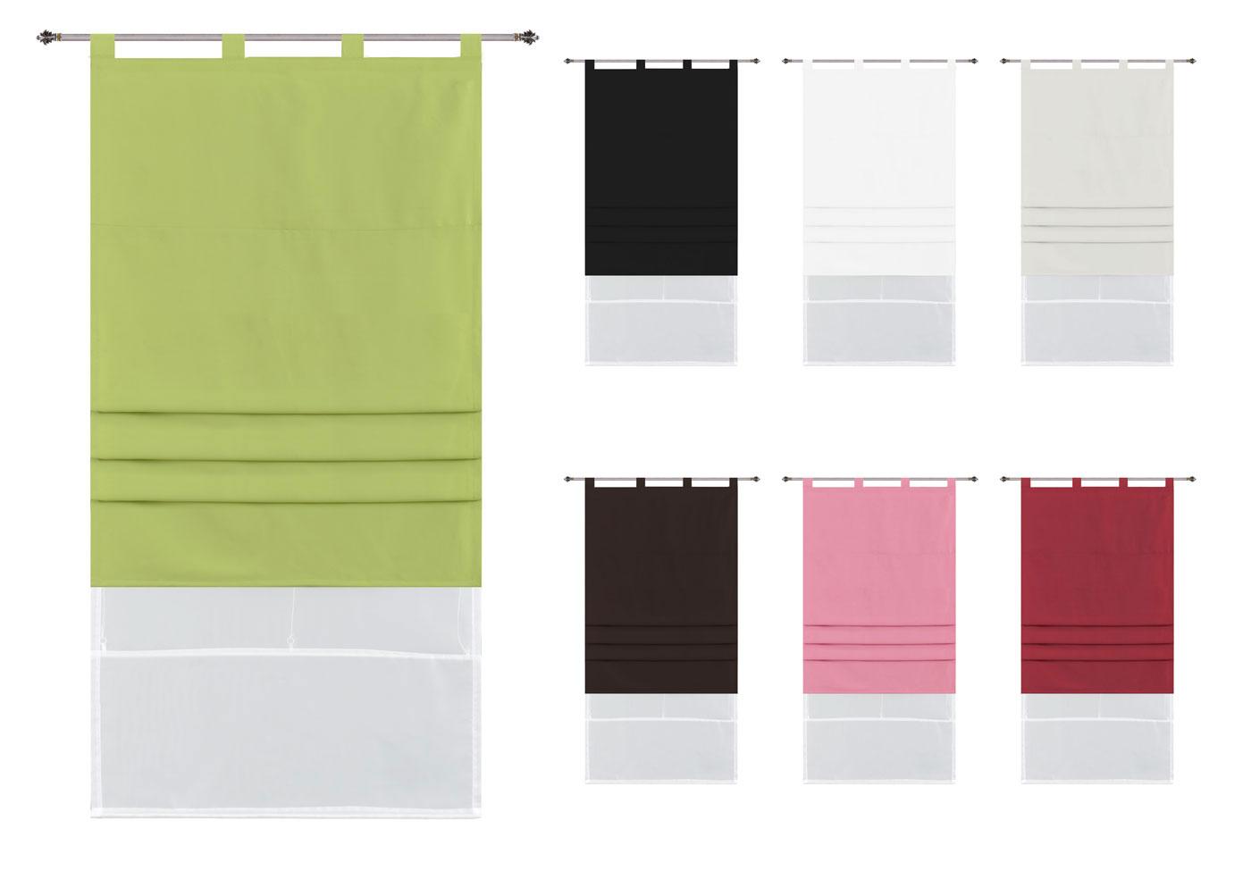 kuvertstore wien gardine borte aus microsatin 145 x 300 hxb schwarz ebay. Black Bedroom Furniture Sets. Home Design Ideas