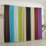 Hochwertiger Verdunkelungs Vorhang mit Ösen aus weichfließendem, blickdichten Stoff, trendige Farben
