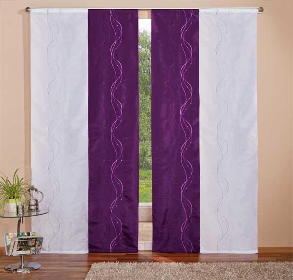 gardinen deko gardinen wei lila gardinen dekoration. Black Bedroom Furniture Sets. Home Design Ideas