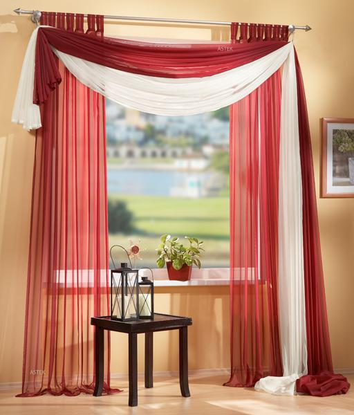 set 4 teile gardine transparent freihanddeko farben 2. Black Bedroom Furniture Sets. Home Design Ideas