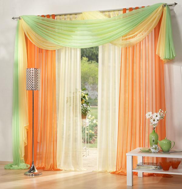 3er set gardinen uni und freihanddeko farben 1 ebay. Black Bedroom Furniture Sets. Home Design Ideas
