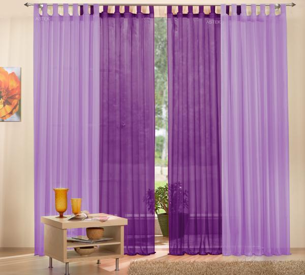 gardine set 61000 flieder 245x140 61000 lila 245x140. Black Bedroom Furniture Sets. Home Design Ideas