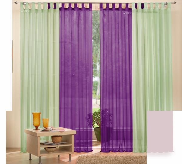 set 4 teile gardine unifarben transparent farben 1 ebay. Black Bedroom Furniture Sets. Home Design Ideas