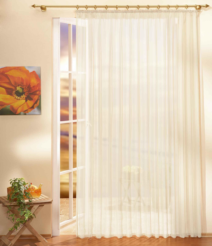 gardinen store voile mit kr uselband 610001 ebay. Black Bedroom Furniture Sets. Home Design Ideas