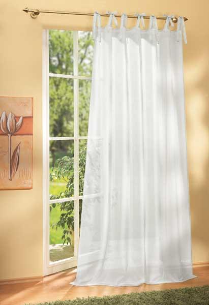 schal mit bindeb ndern voile 61007 ebay. Black Bedroom Furniture Sets. Home Design Ideas