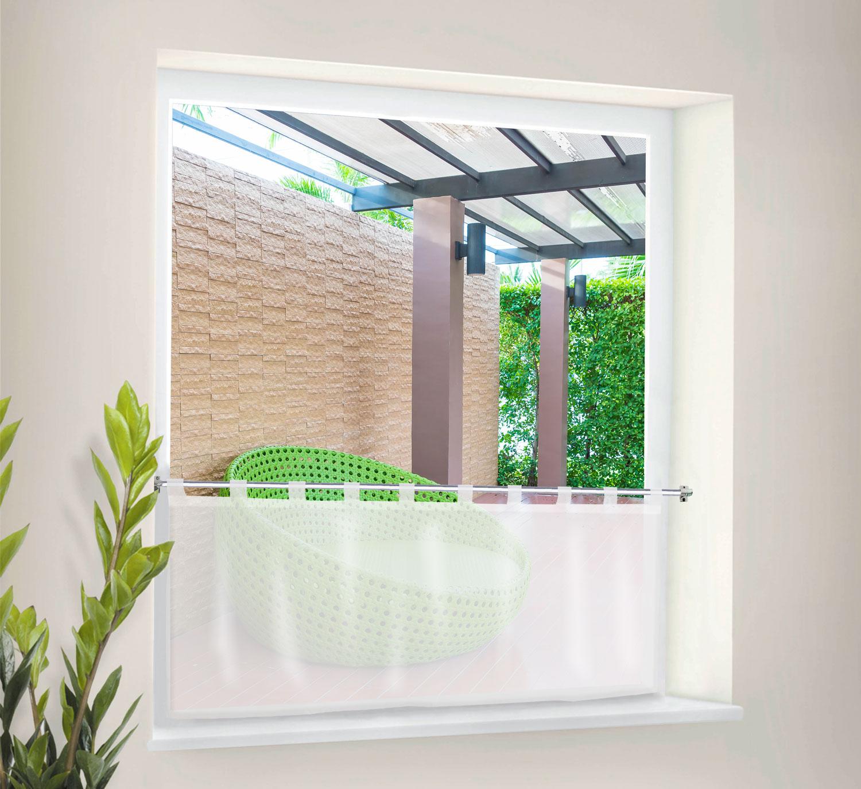 scheibengardinen mit schlaufen. Black Bedroom Furniture Sets. Home Design Ideas