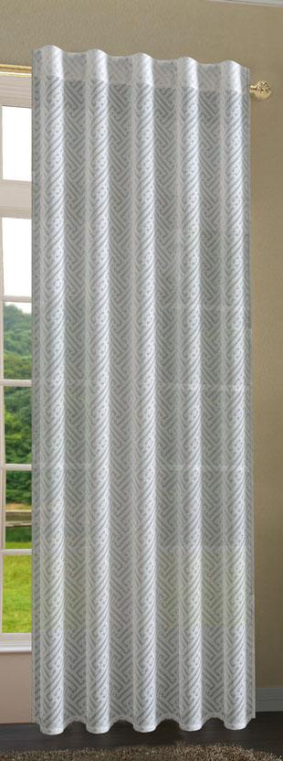 gardine vorhang blackyard verdeckte schlaufen ausbrenner 235x140 cm wei ebay. Black Bedroom Furniture Sets. Home Design Ideas