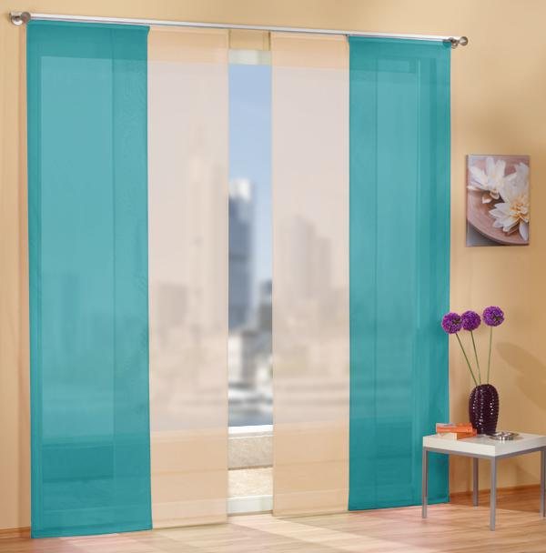 fl chenvorhang set 85589 t rkis 245x60 85589 sand 245x60. Black Bedroom Furniture Sets. Home Design Ideas