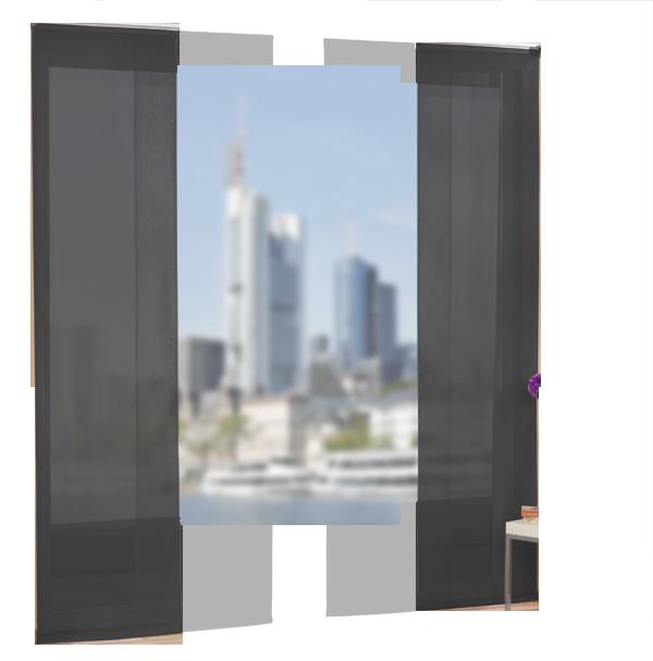 set 4 teile fl chenvorhang transparent farben 1 ebay. Black Bedroom Furniture Sets. Home Design Ideas