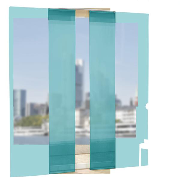 set 4 teile fl chenvorhang transparent farben 2 ebay. Black Bedroom Furniture Sets. Home Design Ideas