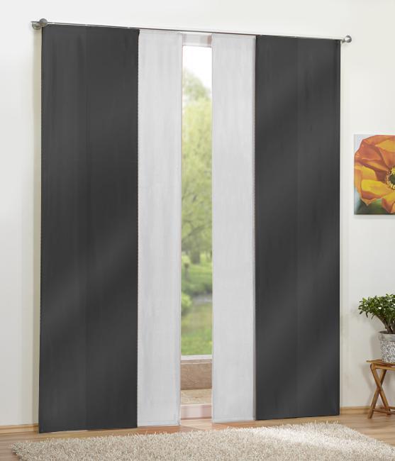 fl chenvorhang blickdicht 4 teile ebay. Black Bedroom Furniture Sets. Home Design Ideas