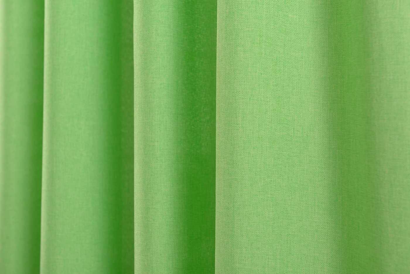 vorhang schlaufen cationic blickdicht leinen optik 2 st ck 245x140 gr n. Black Bedroom Furniture Sets. Home Design Ideas