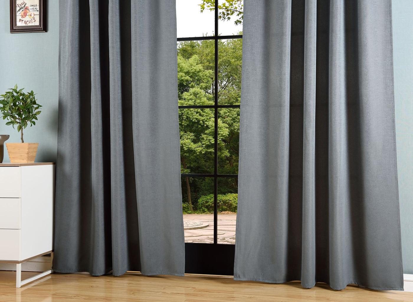 vorhang jacquard gardine blickdicht verdeckte schlaufen universalband 20465 ebay. Black Bedroom Furniture Sets. Home Design Ideas