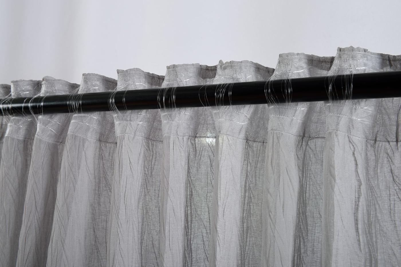 gardine crushed leinen optik transparent verdeckte schlaufen 20475 ebay. Black Bedroom Furniture Sets. Home Design Ideas