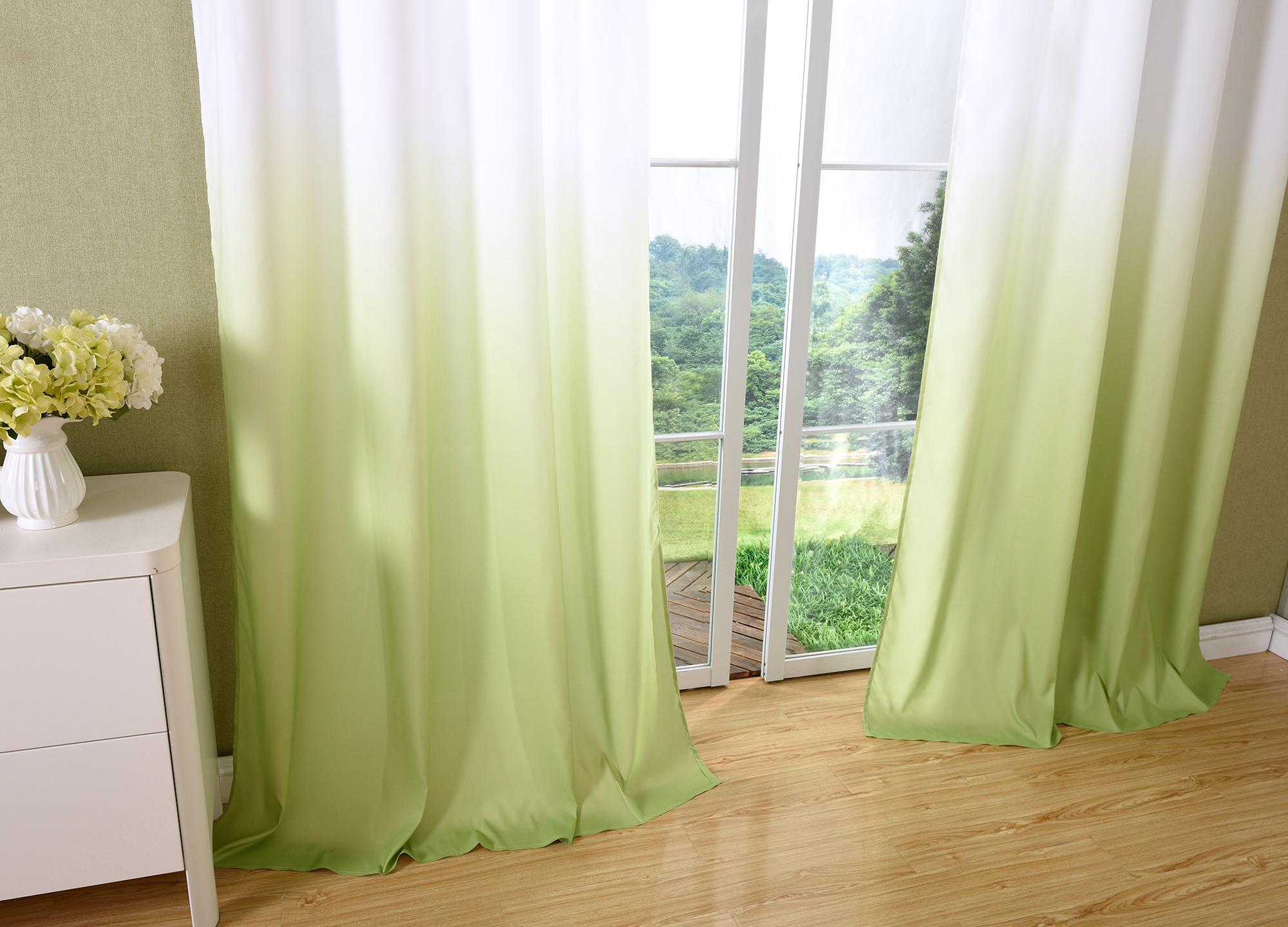 vorhang blickdicht schal sen gardine microsatin farbverlauf. Black Bedroom Furniture Sets. Home Design Ideas