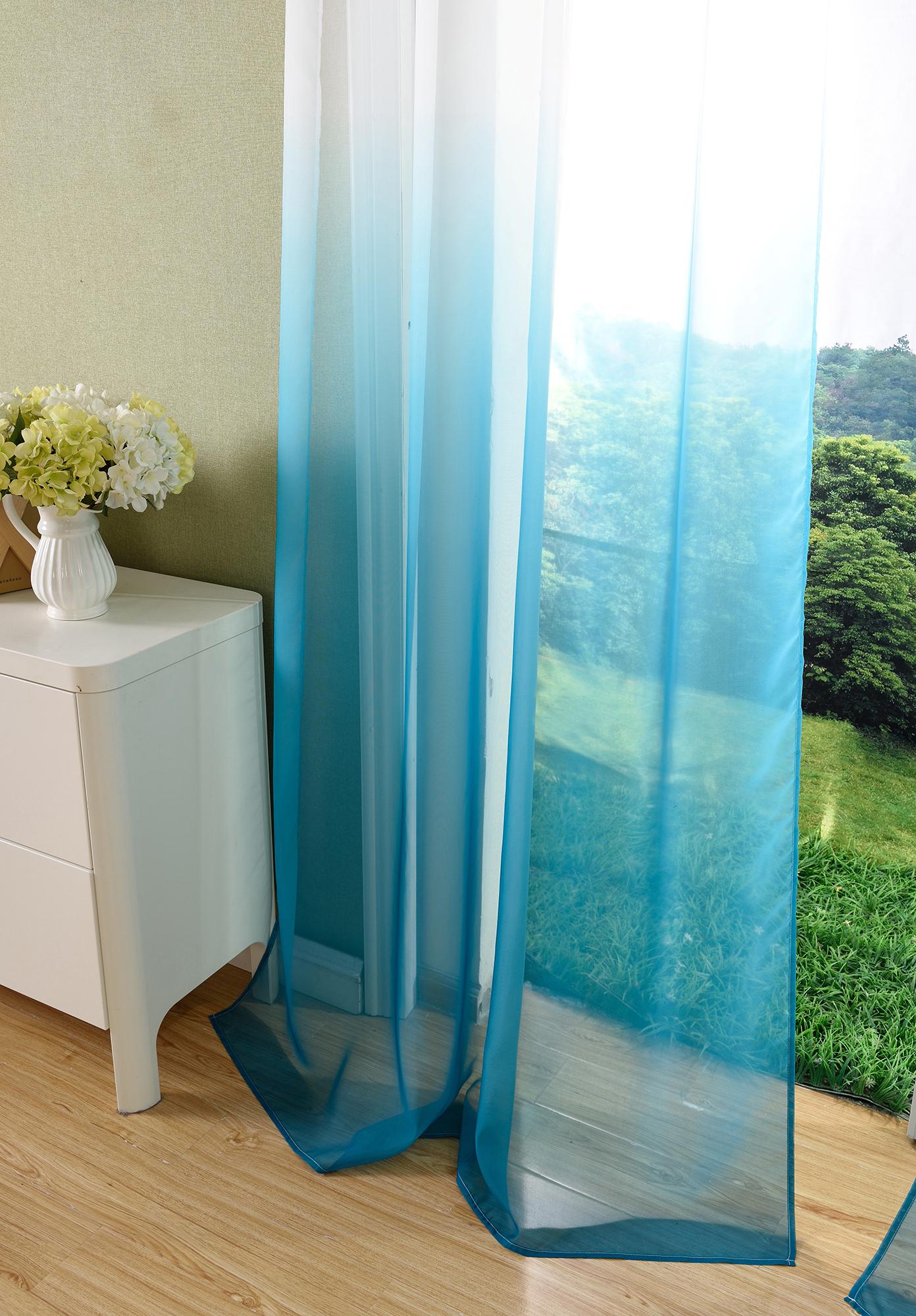 vorhang transparent schal sen gardine voile farbverlauf ebay. Black Bedroom Furniture Sets. Home Design Ideas