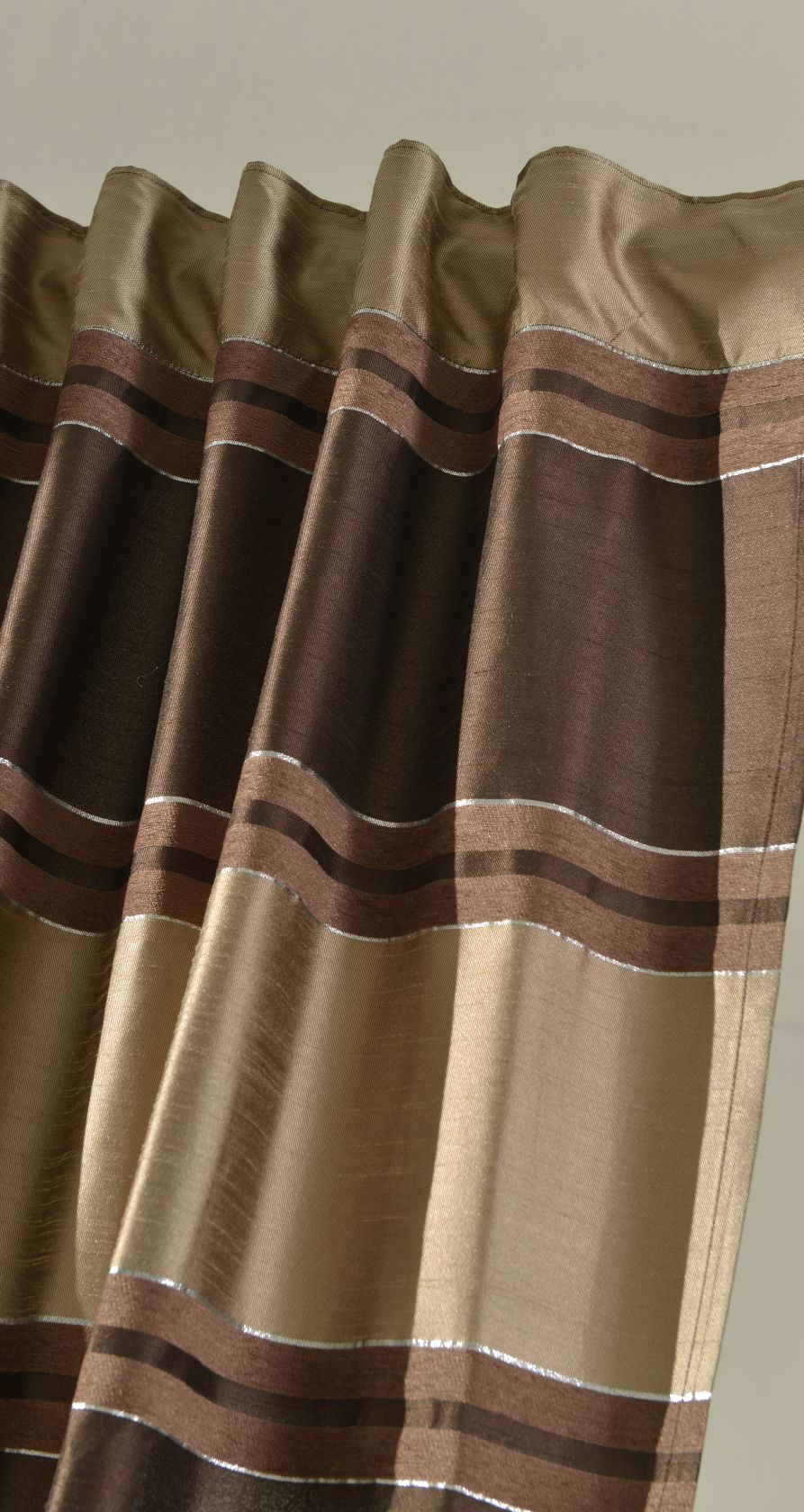 vorhang schal gardine chenille effekt streifen schlaufen blickdicht 20430 ebay. Black Bedroom Furniture Sets. Home Design Ideas