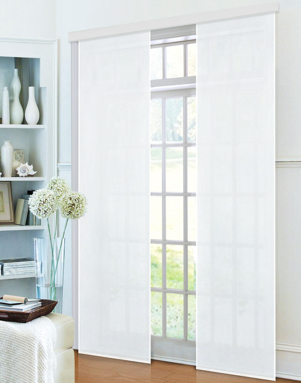 fl chenvorhang schiebegardine blickdicht micro satin matt mit zubeh r 85600 ebay. Black Bedroom Furniture Sets. Home Design Ideas