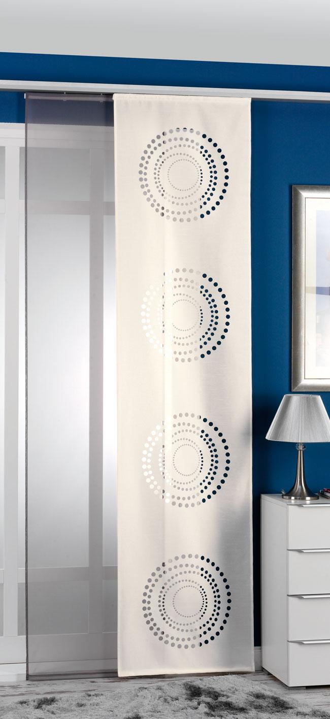 2er pack schiebegardine fl chenvorhang schiebevorhang paneelwagen beschwerungs ebay. Black Bedroom Furniture Sets. Home Design Ideas