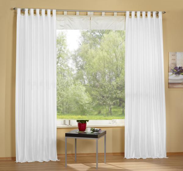 set 4 teile deko schal raffrollo farben 2 ebay. Black Bedroom Furniture Sets. Home Design Ideas