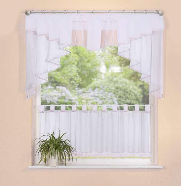 scheiben gardinen set 2 teile 20319 ebay. Black Bedroom Furniture Sets. Home Design Ideas