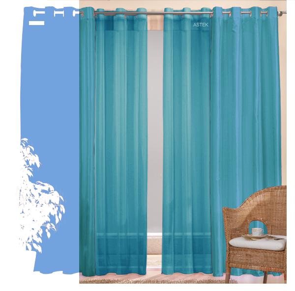 set 4 teile schal aus taft und gardine uni farben 1 ebay. Black Bedroom Furniture Sets. Home Design Ideas