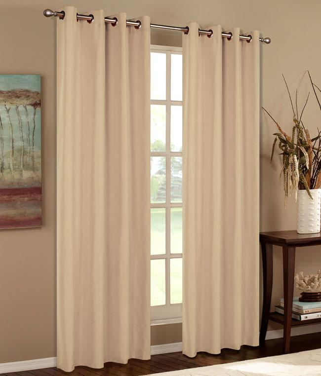 Vorhang Gardine blickdicht matt Schal aus Microsatin Gewebe