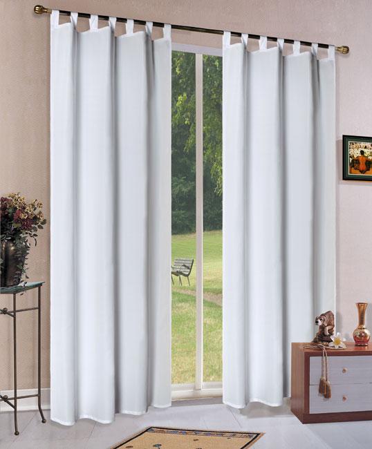 vorhang blickdicht matt schal wei schlaufen 245x140 aus. Black Bedroom Furniture Sets. Home Design Ideas