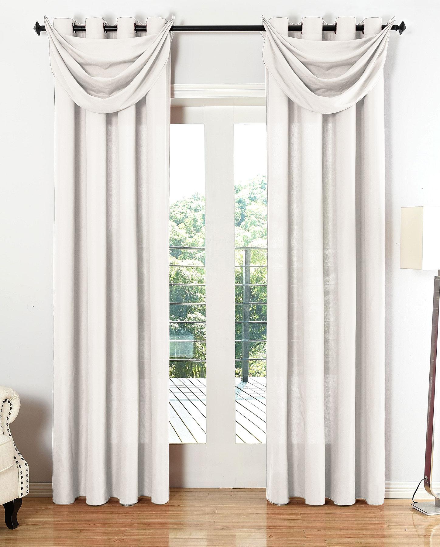 vorhang set blickdicht schal sen microsatin segeltuch hxb 225x140 cm creme ebay. Black Bedroom Furniture Sets. Home Design Ideas