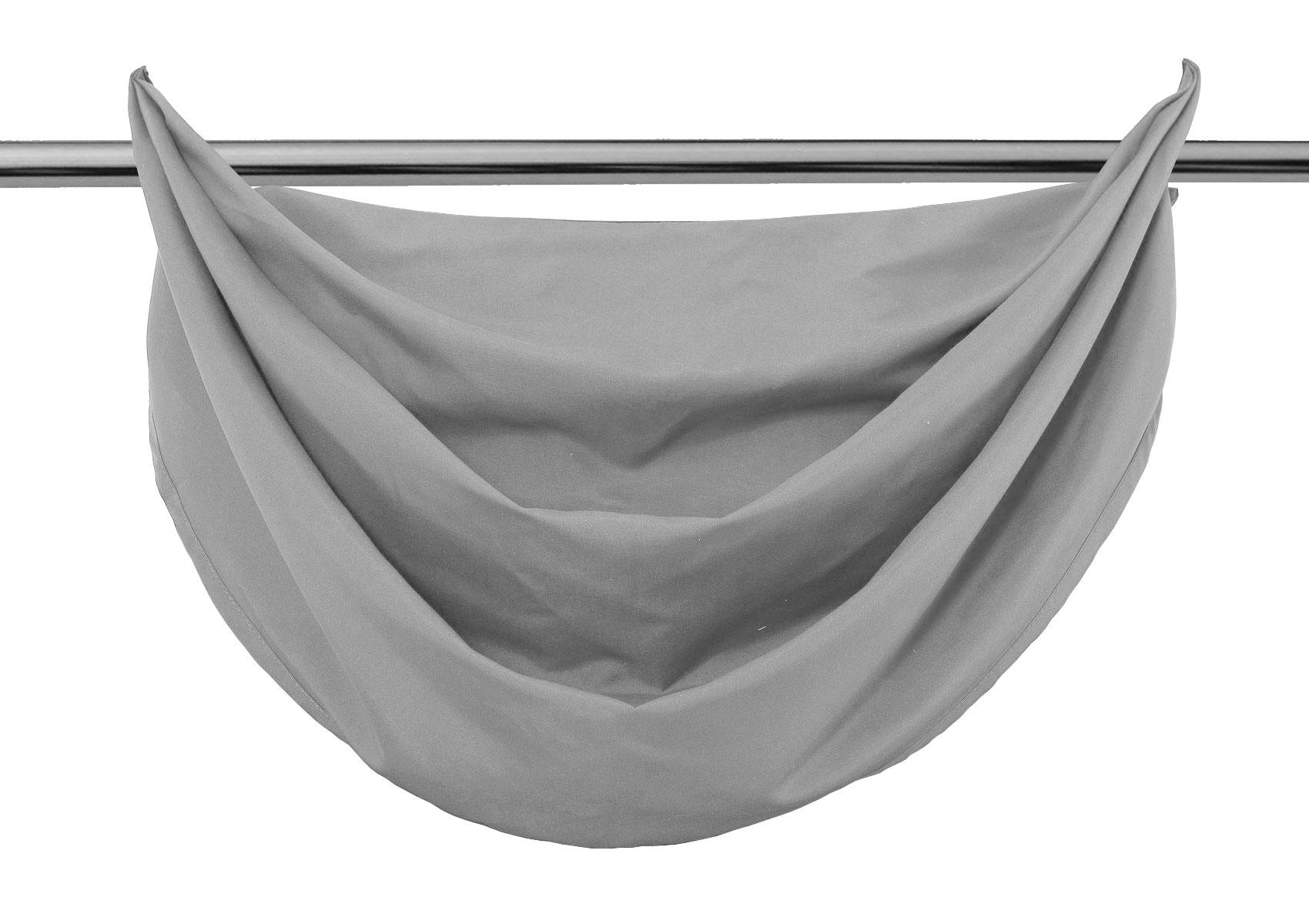 querbehang segeltuch microsatin blickdicht sen hxb 60x80 cm grau ebay. Black Bedroom Furniture Sets. Home Design Ideas