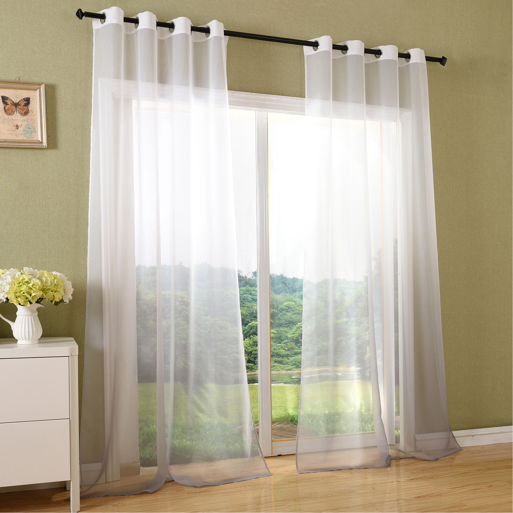 farbverlauf senschal sen vorhang schiebegardine fl chenvorhang 204200 ebay. Black Bedroom Furniture Sets. Home Design Ideas