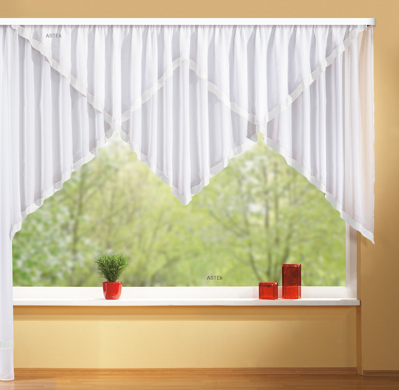 kuvertstore gardine mit borte aus microsatin mikrosatin. Black Bedroom Furniture Sets. Home Design Ideas